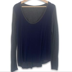 Wilfred Free Colour Block Long Sleeve Top